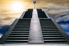Stair way. To the heaven Stock Photo