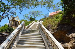 Stair way to temple on the mountain Royalty Free Stock Photo