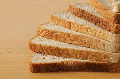Stair of wheat bread Stock Images