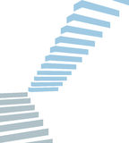 Stair on white background. Stair as a symbol of height is in infographic on white background Stock Photos