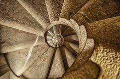 螺旋Stairacase在巴塞罗那 库存图片