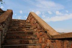 石Staircace 免版税图库摄影