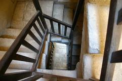 Staircase. Old Staircase from above royalty free stock photo