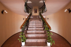 Staircase. To a large luxury house Royalty Free Stock Image