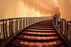 Staircase. Of the hotel thailand Stock Photos