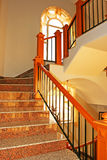 Staircase. In luxurious house, vertical picture Royalty Free Stock Photo