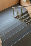 Staircase. Concrete staircase with metal handrails stock photos