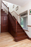 Staircase. Oak wooden staricase in a traditional irish house Royalty Free Stock Photo