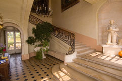 Staircase. In french castle, sunlit Royalty Free Stock Photos