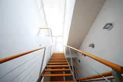 Staircase 4. Picture of an interior of a house Royalty Free Stock Photo