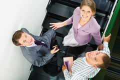 On staircase Royalty Free Stock Photography