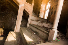 Staircase in Abandoned Church Royalty Free Stock Image