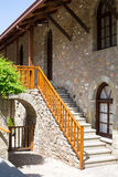 Staircase at Agios Stefanos St Stefan Monastery on Meteora cliff, Greece Stock Photography