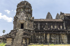 A staircase in Angkor Wat. Staircase leading out from the gallery at 2nd level at Angkor Wat Royalty Free Stock Images
