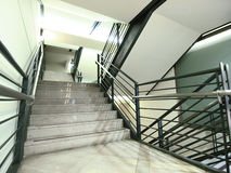 Staircase in apartment house Stock Photos
