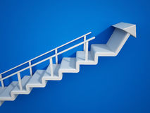 Staircase with an arrow leading up. 3D illustration.  Stock Photography