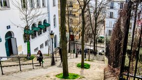 Free Staircase At Montmartre In Paris Royalty Free Stock Photography - 178882937