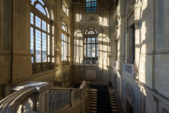 Staircase of a baroque palace Italian. View of a staircase of a baroque palace Italian Stock Photos