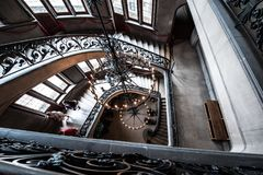 Stairs inside the Biltmore Estates Royalty Free Stock Images