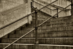 Staircase in black and white Stock Image
