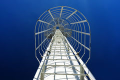 Staircase in blue sky Stock Photo