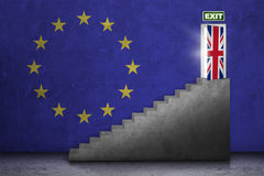 Staircase with brexit door Stock Image