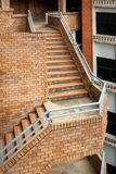 Staircase brick decorative, Exterior architectural stock images