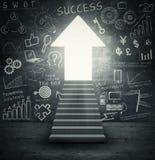 Staircase into bright future Stock Photos