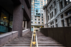 Staircase and buildings at Suffolk University in Boston, Massach Royalty Free Stock Photo