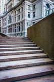 Staircase and buildings at Suffolk University in Boston, Massach Stock Photography