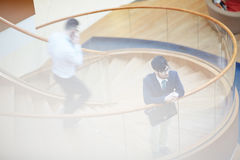 Staircase in business center Stock Photos