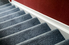 Staircase with carpet. At home Stock Images