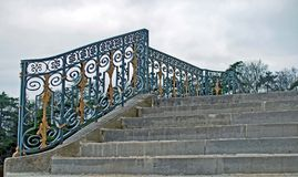 Staircase of the castle Stock Images
