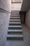 Staircase cement concrete structure in residential house buildin Stock Photos