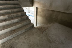 Staircase cement concrete structure in residential house Stock Photo