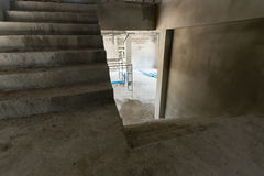 Staircase cement concrete structure in residential house Stock Photos