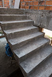 Staircase cement concrete structure in residential house Royalty Free Stock Photos