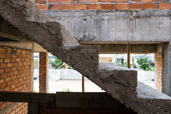 Staircase cement concrete structure in residential house Royalty Free Stock Images