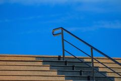 Staircase Cement with steel railing Royalty Free Stock Image