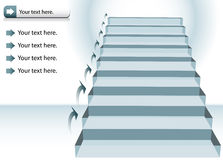 Staircase Chart Stock Photography