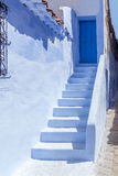 Staircase in Chefchaouen Royalty Free Stock Photo
