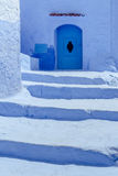 Staircase in Chefchaouen Royalty Free Stock Image