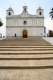 Staircase and church Stock Photo