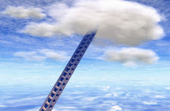 Staircase for clouds Royalty Free Stock Image