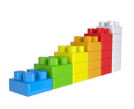 Staircase of colored children's blocks Stock Image