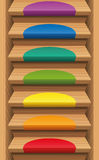 Staircase Colored Mats Rainbow Colors Royalty Free Stock Image