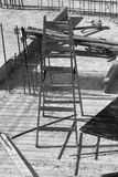Staircase on the construction site Stock Images