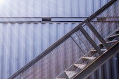 Staircase of the container house. At thailand Royalty Free Stock Images