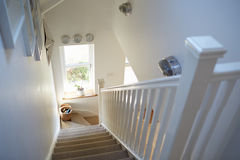 Staircase In Contemporary Family Home Stock Photography