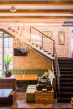 Staircase in cosy restaurant Royalty Free Stock Photos